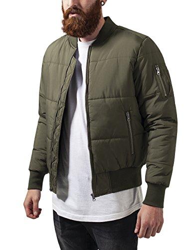 Urban Classics Basic Quilt Bomber Jacket Chaqueta, Verde (Olive 176), M para Hombre