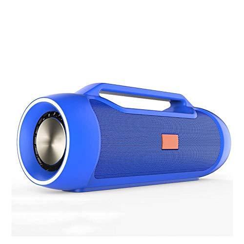 NCRD Altavoz portátil Bluetooth con Sonido estéreo, Bluetooth 4.2, emparejamiento estéreo inalámbrico, Altavoz para el hogar, al Aire Libre, Viajes (Color : Blue)