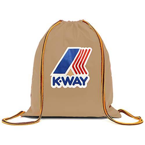 K-Way Sacca sack K-POCKET Gym backpack zaino nylon waterproof impermeabile 38x45 cm unisex 9AKK1345-Beige