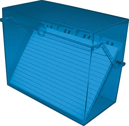 Helit - Tarjetero pequeño A8, color azul transparente