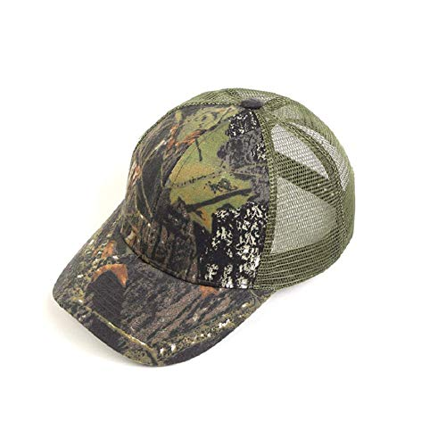 HYCOPROT Camo Hat, 6 Panel Mesh Military Tactical Hunting Baseball Cap (Holz)