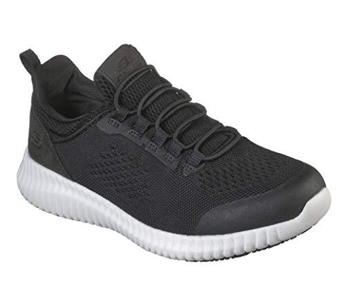 Skechers - Zapato de servicio de alimentos para mujer, Multi (Negro Blanco), 37.5 EU