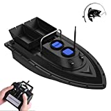 HXZB Fishing Bait Boat Smart RC Boat Fish Finder 1.5kg Loading 500m Wireless Remote Control 2 Motors 2 Bait...