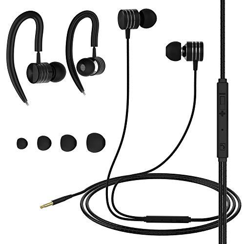 Amarion Kopfhörer In Ear mit Mikrofon & Box mit Kabel - Headset Headphones mit Noise Cancelling für Sport,...