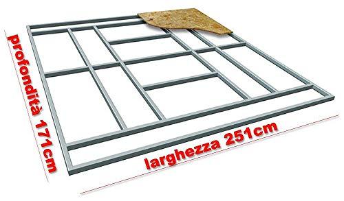 giordano shop Base Supporto Pavimento per Casetta in Lamiera 251x171 cm Floor L