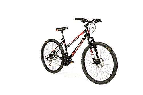"""Moma Bikes Bicicleta Montaña SUN 26"""", SHIMANO 21V. Doble Freno Disco, Susp. Delant."""