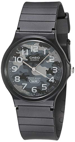 Casio MQ-24-8CLCK - Reloj de cuarzo para hombre, color negro