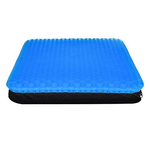 AMOSTBY Gel Seat Cusion Big Size with Non-Slip Cover Double Thick Pressure Relief for Offoce Chair Car Wheelchair Pressure Relief Egg Sitting Pad