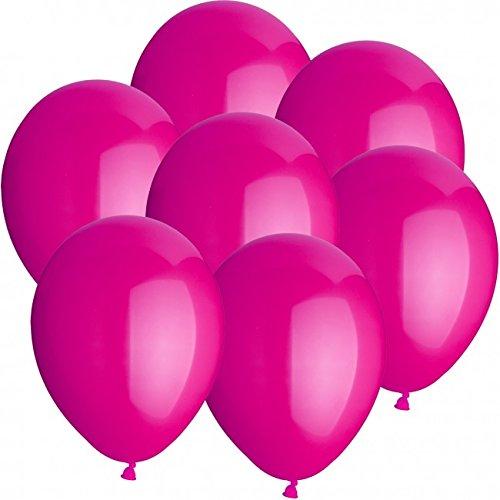 50 Luftballons Ø 25 cm Farbe frei wählbar Ballons Helium Luftballon (Pink)