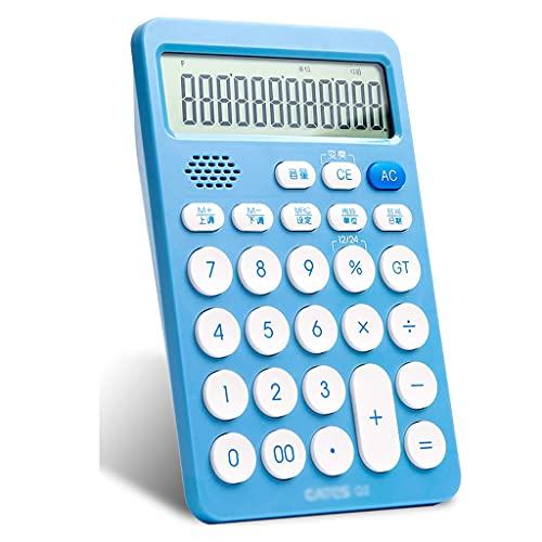 calculadoras Calculadora Grande Función De Escritorio Calculadoras Electrónicas De 12 Dígitos Gran Pantalla LCD Y Botón Grande Calculadoras Básicas (Color : Blue, tamaño : Voice Type)