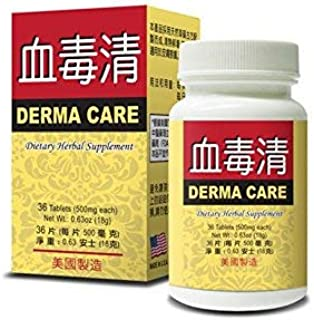 Derma Care Dietary Herbal Supplement Helps to Improve Skin Health and Relieve Skin Irritations 500mg 36 Tablets Made in USA