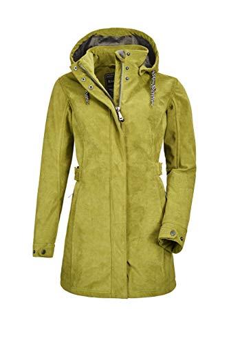 G.I.G.A. DX Woja - Parka para mujer con capucha desmontable, Mujer, Parka casual Softshell con capucha desmontable, 27283-000, Color verde., 38
