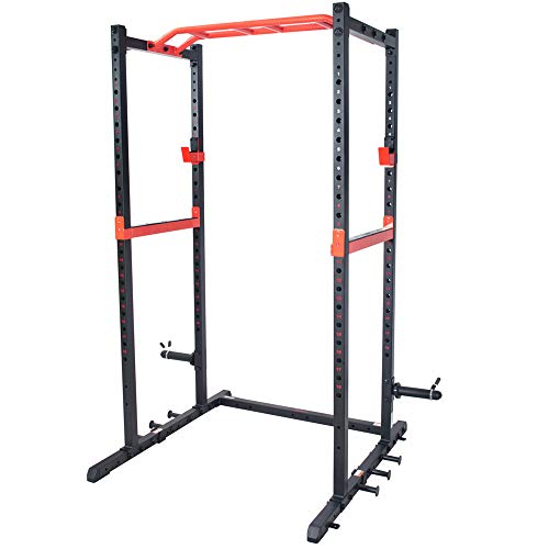 Sunny Health & Fitness Power Zone Strength Rack Power Cage - SF-XF9925, Black