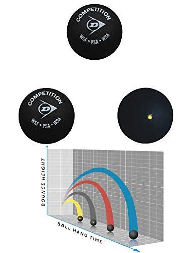 Sportsends Dunlop Squash Balls - Alle Arten mit Variety Pack (3er Pack) (Competition)