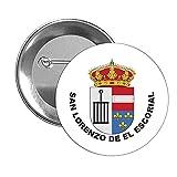 CHAPA ESCUDO HERALDICO SAN LORENZO DE EL ESCORIAL MADRID