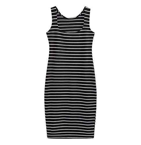 Tomatoa Damen Sommerkleider Ärmellos Elegant Minikleider Sexy Sommerkleid Einfarbig Casual T Shirt Kleid Freizeitkleid S,M,L,XL,2XL