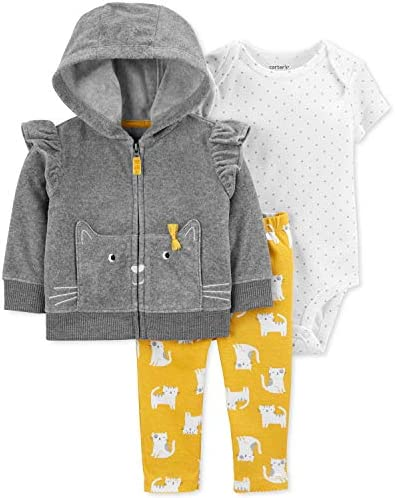 Carter s Baby Girls Cardigan Sets 121g771 6 Months Gray product image