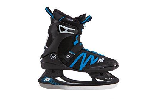K2 Herren Schlittschuhe FIT ICE PRO - Schwarz-Blau - EU: 36.5 (US: 5 - UK: 4) - 25B0002.1.1.050