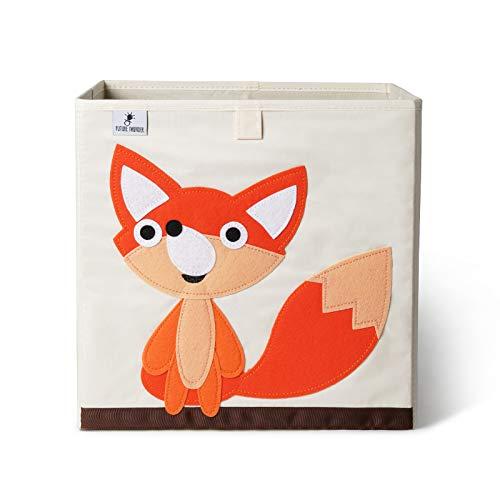 Aufbewahrungsbox Kinder I Spielzeugbox für Kinderzimmer (33x33x33) zur Aufbewahrung im Kallax Regal I Faltbox Aufbewahrungskorb Kinder Spielzeug aufbewahrung(Fuchs)