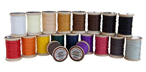 Best Deals! 1.0mm Ritza Tiger Thread - Waxed Polyester Braided Thread for Hand Sewing Leather (Mini ...