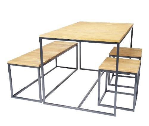 Jan Kurtz – Conjunto de muebles Alois – L – Eva Marguerre / Marcel Besau – Diseño – Silla de jardín – Mesa de exterior – Mesa de terraza