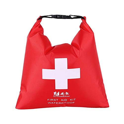 QINGCHU Bolsa de primeros auxilios para senderismo, rafting, 1,2 l, impermeable, para actividades al aire libre
