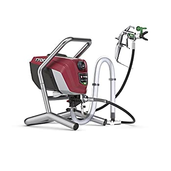 Titan 0580009 ControlMax 1700 High Efficiency Airless Paint Sprayer HEA technology decreases overspray by up to 55% while delivering softer spray