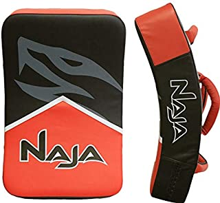 Naja Extreme Muay Thai Pad for Training, Curved Kickboxing, MMA, Taekwondo, Kicking Shield Large Strike Punching, Foot, Knee and Elbow Target…