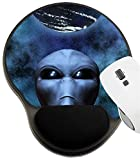MSD Mousepad Wrist Rest Protected Mouse Pads, Mat with Wrist Support, Alien Portrait with Stars in Background Image ID 6306360