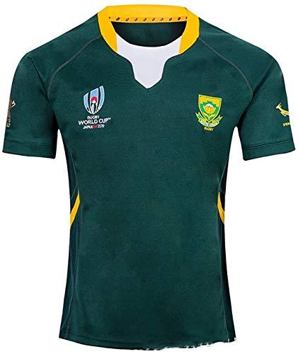 2019 Japan RWC Rugby-Trikots Südafrika Heim- und Auswärts T-Shirt Fußball-Sportkleidung (Size : Large)