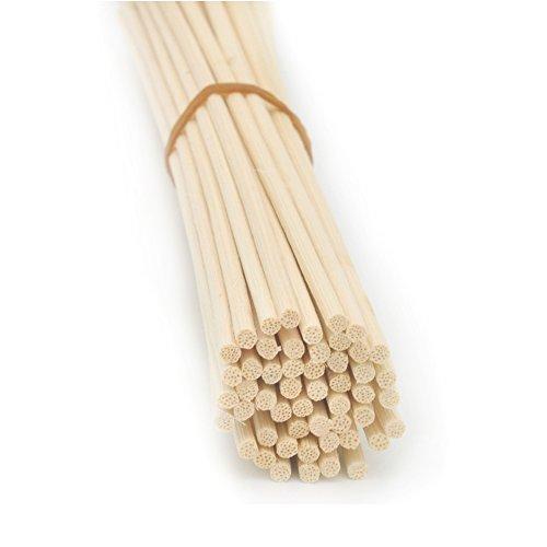 Ougual 100 Pezzi Rattan Reed diffusore Bastoncini di Ricambio, Natural Color (20cm*3mm)
