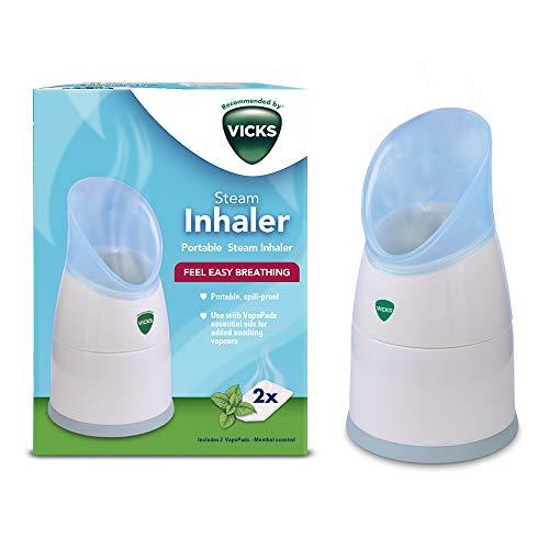 Inhalador de vapor personal Vicks con dos tabletas de esencia, V1300