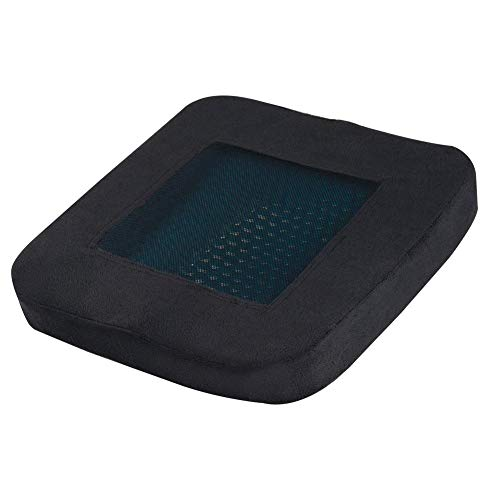 N/I Seat Cushion, Washable Office Slow Rebound Memory Foam Silicone Cushion, Can Be Used For Car Cushion, Office Chair Cushion, Wheelchair Cushion (40CM40CM6CM)