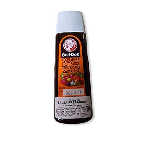 Sauce Tonkatsu épaisse pour panée BULLDOG 300ml Japon - Pack de 3 uds