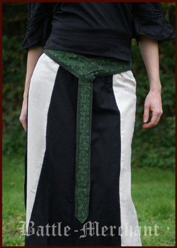 Mittelaltergürtel aus Baumwolle div. Farben, Gr. S/M Farbe grün