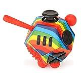JIM'S STORE Juguete Antiestrés Stress Cube 12 Lados Cubo de Descompresión Juguete de Atención a la Ansiedad Juguete de Dedo Sensorial para Adultos y Niños (Color-03)