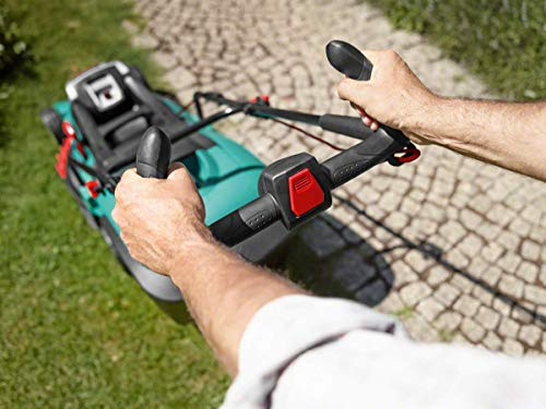 Bosch Home and Garden 06008A450D Rotak 430 LI Rasaerba a 2 Batterie, Taglio 43 cm/2-7 cm, Cesto 50L, 36 V, Verde78.5x40.7x48.8 cm, 1 Pezzo