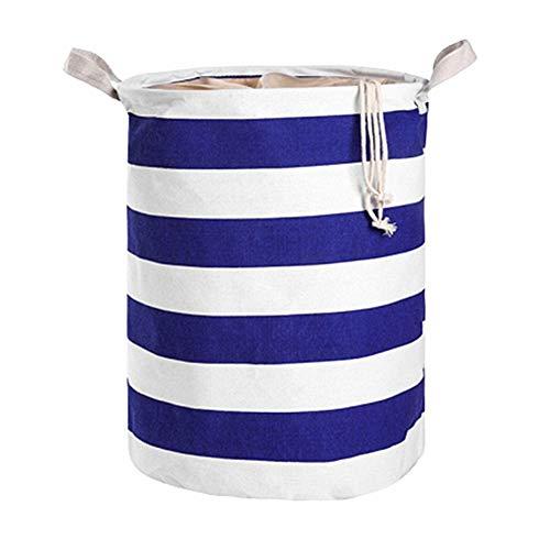 wäschekorb Baby wäschekorb Kinder Korbspeicher Babykorb zur Aufbewahrung von Kleidung Baby Wäschekorb Spielzeug Aufbewahrungskorb Blue
