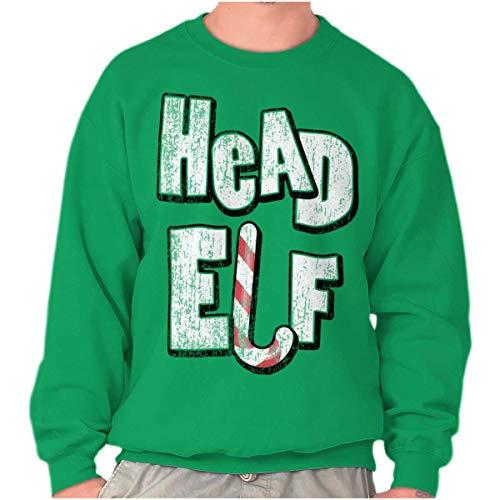 Head Elf Christmas Santa Claus Crewneck Sweatshirt