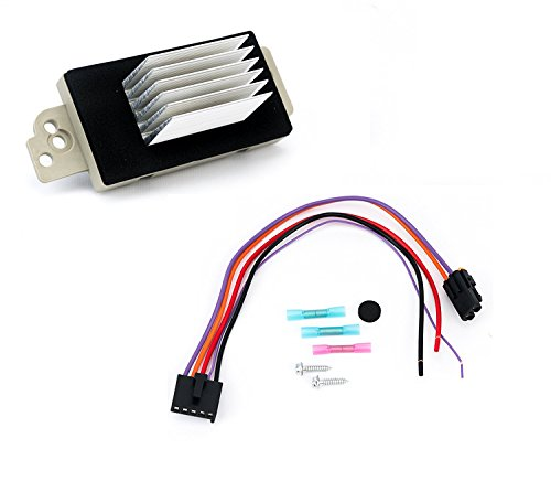 Blower Motor Resistor Complete Kit with Harness - Replaces 15 81773, 89018778, 89019351, 1581773, 15-81773 - Compatible with Chevy, GMC Vehicles - Silverado, Tahoe, Suburban, Sierra, Yukon XL - AC