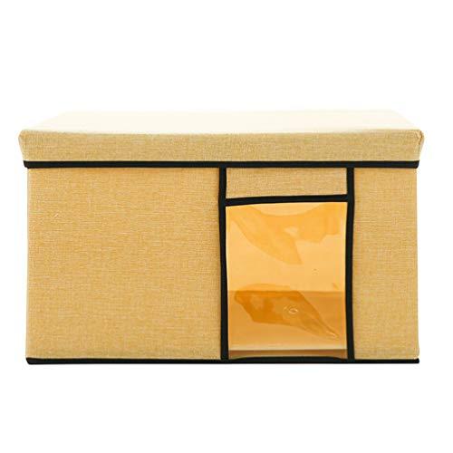 GladiolusA Kosmetik Aufbewahrungsbox Und Desktop Finishing Aufbewahrungsbox Für Küche,Spielzeug Büro,Zuhause,Aufbewahrungskorb Organisation Beige Gelb M(41.5 * 31 * 25.5CM)