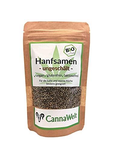 CannaWelt Bio Hanfsamen - ungeschält - für die warme und kalte Küche bestens geeignet! - DE-ÖKO-039 (500 Gramm)