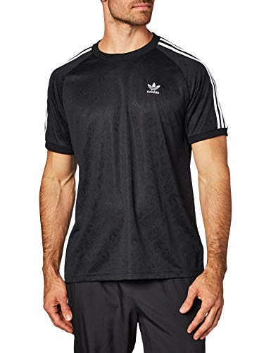 adidas Mono Jersey T-Shirts, Hombre, Black, L