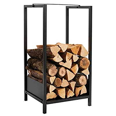 DOEWORKS Fireplace Log Rack 30 Inch Log Carrier Heavy Duty Firewood holder for Indoor/Outdoor Fire Place