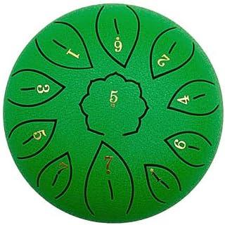YONGCHY Lengua del Tambor 6 Pulgadas Tono 11 Tecla C Budistas Cantando Sonidoterapia Meditación Canto De La Mano del Tambor del Tambor Tanque Tambores Pan,Verde