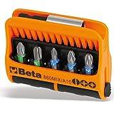 Beta 860MIX/A10 - Inserti per Avvitatore con Portainserti Magnetico in Astuccio Tascabile - 10 Pezzi