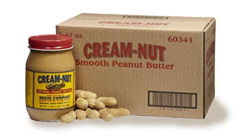 Case of Cream Nut Natural Smooth Peanut Butter - (6 Jars)