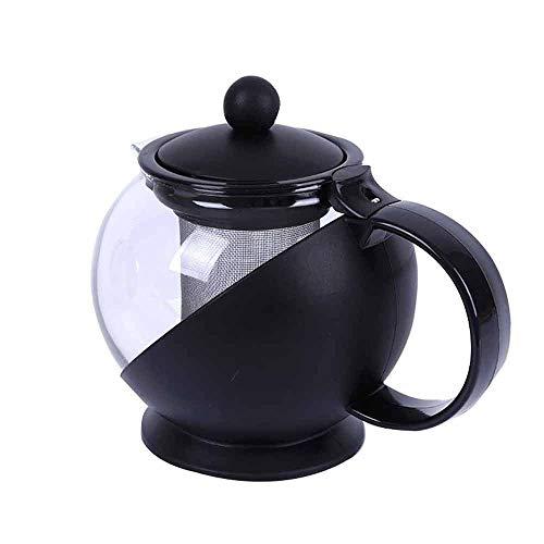 Zoo-Yilchu Tetera, Tetera, resistente al calor de cristal del té olla de acero inoxidable Filtro de línea, Burbuja tetera de alta temperatura resistente de gran capacidad de la caldera a base de plant