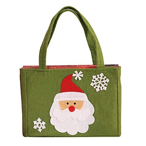 carol -1 Geschenktüten Weihnachten Nikolaustüte Weihnachtssack Geschenktaschen Weihnachtsdekoration Süßigkeiten Tasche Xmas, Weihnachtstüten Geschenktaschen Papier-Tragetaschen