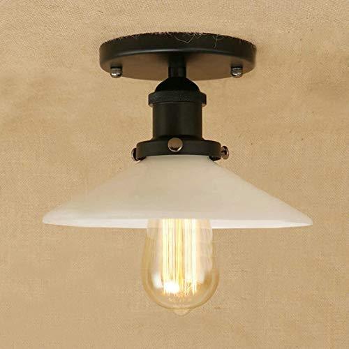 Luminarias, 212, Lámpara de montaje semi-flush 22 cm E27 Luz de celular Lámpara de cocina Lámpara de techo Iluminación industrial Alojamiento antiguo óxido, Fixturesss